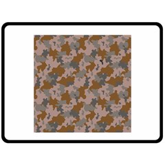 Brown And Grey Camo Pattern Fleece Blanket (Large)  by artpics