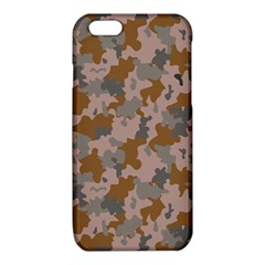 Brown And Grey Camo Pattern iPhone 6/6S TPU Case by artpics