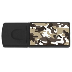 Urban White And Brown Camo Pattern USB Flash Drive Rectangular (2 GB)  by artpics