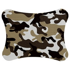 Urban White And Brown Camo Pattern Jigsaw Puzzle Photo Stand (Bow) by artpics