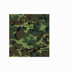 Woodland Camouflage Pattern Large Garden Flag (Two Sides) by artpics