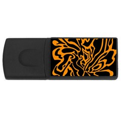 Orange and black USB Flash Drive Rectangular (4 GB)