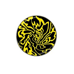 Black And Yellow Hat Clip Ball Marker by Valentinaart