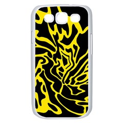 Black and yellow Samsung Galaxy S III Case (White)