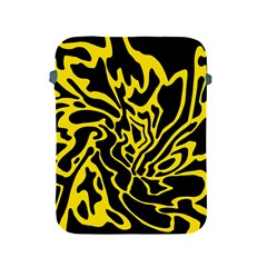 Black And Yellow Apple Ipad 2/3/4 Protective Soft Cases by Valentinaart