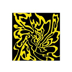 Black And Yellow Satin Bandana Scarf by Valentinaart