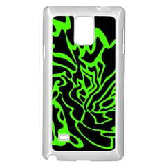 Green and black Samsung Galaxy Note 4 Case (White) by Valentinaart