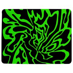Green And Black Jigsaw Puzzle Photo Stand (rectangular) by Valentinaart