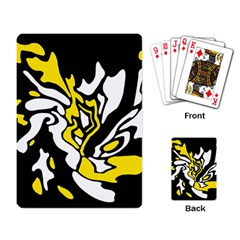 Yellow, Black And White Decor Playing Card by Valentinaart