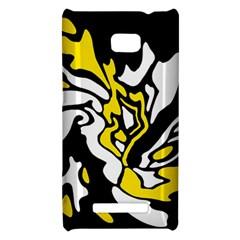 Yellow, black and white decor HTC 8X