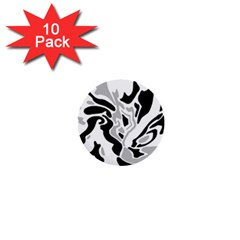Gray, Black And White Decor 1  Mini Buttons (10 Pack)  by Valentinaart
