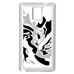 Gray, black and white decor Samsung Galaxy Note 4 Case (White) by Valentinaart