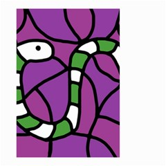 Green Snake Small Garden Flag (two Sides) by Valentinaart