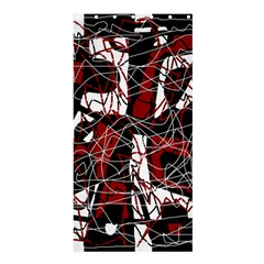 Red Black And White Abstract High Art Shower Curtain 36  X 72  (stall)  by Valentinaart
