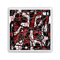Red Black And White Abstract High Art Memory Card Reader (square)  by Valentinaart