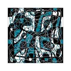 Blue, Black And White Abstract Art Acrylic Tangram Puzzle (6  X 6 ) by Valentinaart