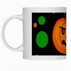 Halloween Pumpkin White Mugs by Valentinaart