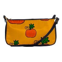 Thanksgiving Pumpkins Pattern Shoulder Clutch Bags by Valentinaart