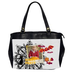 Halloween By Helloween   Oversize Office Handbag (2 Sides)   Ccowbn8o35ji   Www Artscow Com Front