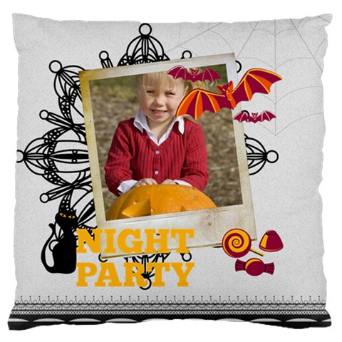Halloween By Helloween   Large Cushion Case (one Side)   4y6art0ttrrx   Www Artscow Com Front