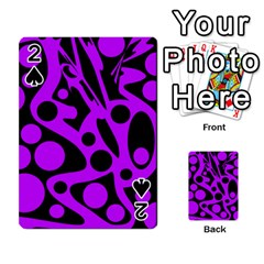 Purple And Black Abstract Decor Playing Cards 54 Designs  by Valentinaart