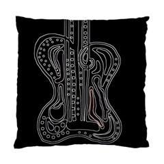 Decorative Guitar Standard Cushion Case (one Side) by Valentinaart