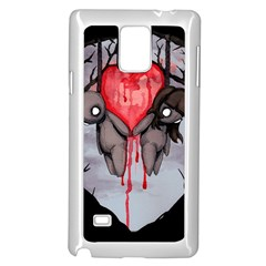 Til Death Samsung Galaxy Note 4 Case (white) by lvbart