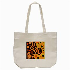 Orange Abstract Decor Tote Bag (cream) by Valentinaart