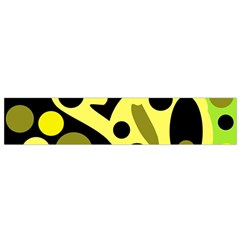 Green Abstract Art Flano Scarf (small) by Valentinaart