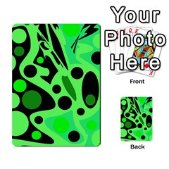 Green Abstract Decor Multi Purpose Cards (rectangle)  by Valentinaart
