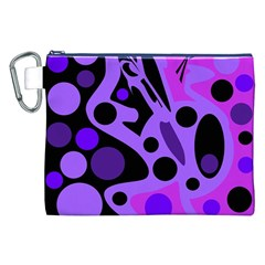 Purple Abstract Decor Canvas Cosmetic Bag (xxl) by Valentinaart