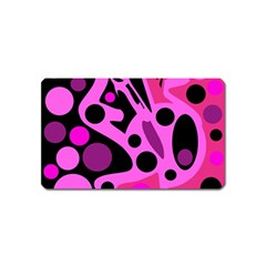 Pink Abstract Decor Magnet (name Card) by Valentinaart