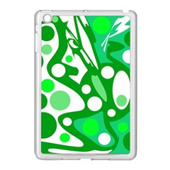 White And Green Decor Apple Ipad Mini Case (white) by Valentinaart