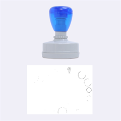 Blue and white decor Rubber Oval Stamps