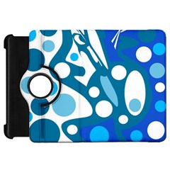Blue And White Decor Kindle Fire Hd Flip 360 Case by Valentinaart
