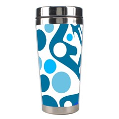 Blue And White Decor Stainless Steel Travel Tumblers by Valentinaart