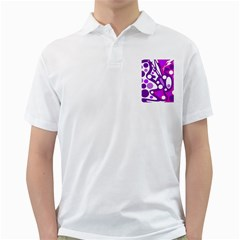 Purple And White Decor Golf Shirts by Valentinaart