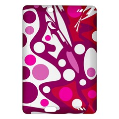Magenta And White Decor Amazon Kindle Fire Hd (2013) Hardshell Case by Valentinaart