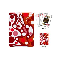 Red And White Decor Playing Cards (mini)  by Valentinaart