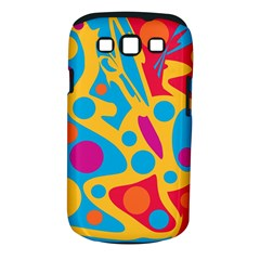 Colorful decor Samsung Galaxy S III Classic Hardshell Case (PC+Silicone) by Valentinaart