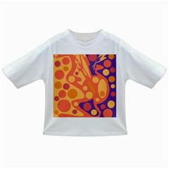 Orange And Blue Decor Infant/toddler T Shirts by Valentinaart