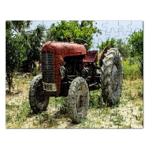 Red Tractor :   Puzzle By Pamela Sue Goforth   Jigsaw Puzzle (rectangular)   Vz10ti30gidc   Www Artscow Com Front