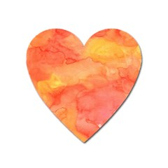 Watercolor Yellow Fall Autumn Real Paint Texture Artists Heart Magnet by CraftyLittleNodes