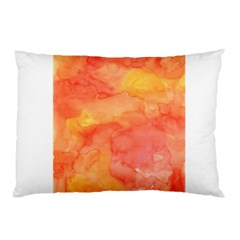Watercolor Yellow Fall Autumn Real Paint Texture Artists Pillow Case (two Sides) by CraftyLittleNodes