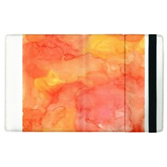 Watercolor Yellow Fall Autumn Real Paint Texture Artists Apple Ipad 2 Flip Case by CraftyLittleNodes