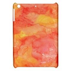 Watercolor Yellow Fall Autumn Real Paint Texture Artists Apple Ipad Mini Hardshell Case by CraftyLittleNodes