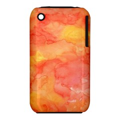 Watercolor Yellow Fall Autumn Real Paint Texture Artists Apple Iphone 3g/3gs Hardshell Case (pc+silicone) by CraftyLittleNodes