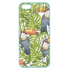 Tropical Print Leaves Birds Toucans Toucan Large Print Apple Seamless Iphone 5 Case (color) by CraftyLittleNodes