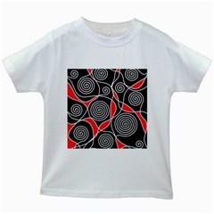 Hypnotic Design Kids White T Shirts by Valentinaart