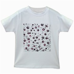 White And Red Soul Kids White T Shirts by Valentinaart